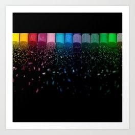 Let it Rain Color Art Print