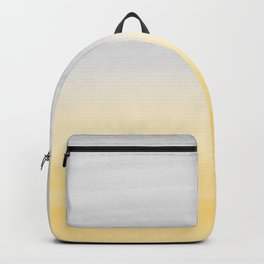 Touching Yellow Gray Watercolor Abstract #1 #painting #decor #art #society6 Backpack