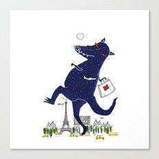 Monster Go Shopping Canvas Print