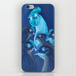 Henpecked In Blue iPhone Skin
