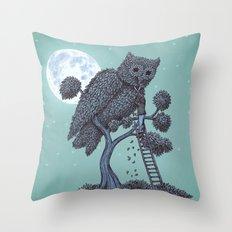 The Night Gardener  Throw Pillow