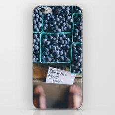 Blueberries at the Farmer's Market iPhone & iPod Skin