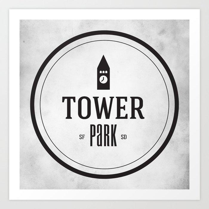 Tower Park Art Print
