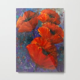 Pop of Poppie Metal Print