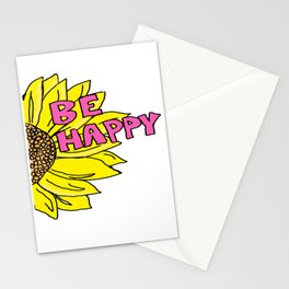 Sunflower  Be Happy Stationery Cards