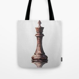 king low poly Tote Bag
