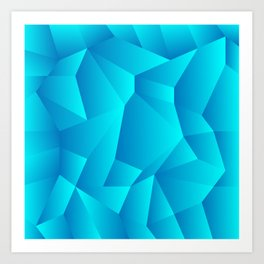 Mountain Grid Gradient Art Print