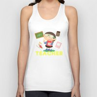 teacher Tank Tops featuring teacher by Alapapaju