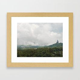 With the clouds. Framed Art Print