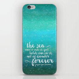 The Sea - Quote from Jacques Cousteau iPhone Skin