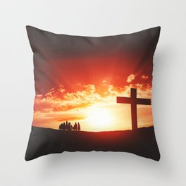 Good friday easter concept Throw Pillow