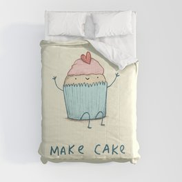 Make Cake Not War Comforters