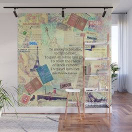 To travel is to live quote Wall Mural