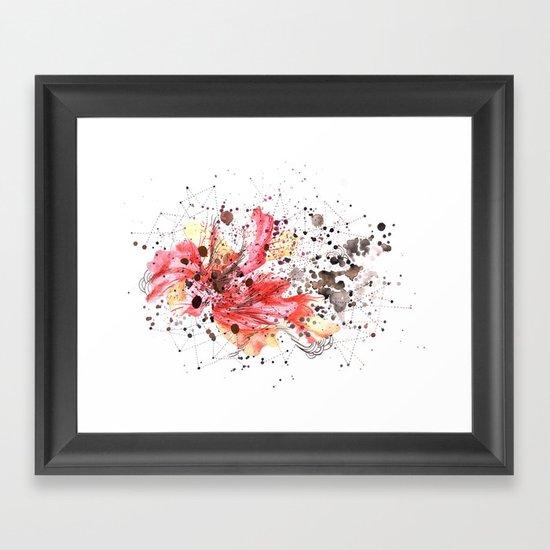 fuego inicial Framed Art Print