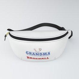 Pitcher Hitter Grandparent Proud Grandma Of The Best Baseball Player Gift Fanny Pack