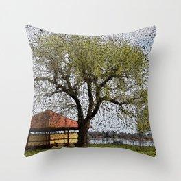 Lake Wendouree Pavilion Ballarat Throw Pillow