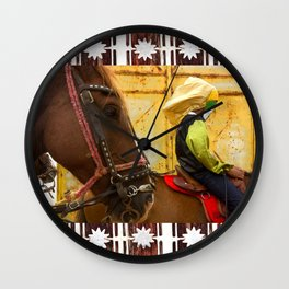 Internal landscapes 4 Wall Clock