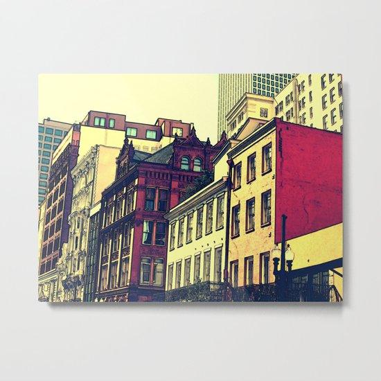 New Orleans Brick Metal Print