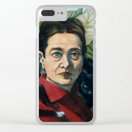 Simone DeBeauvoir Clear iPhone Case