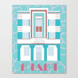 Miami Landmarks - Hotel Webster Canvas Print