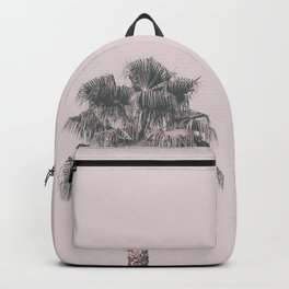 Tropical Palm Tree In Pastel Pink Light Backpack