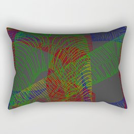 Stichelstrichelei Rectangular Pillow