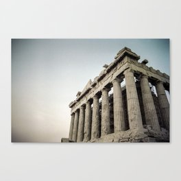 Faded Memories: Parthenon Canvas Print