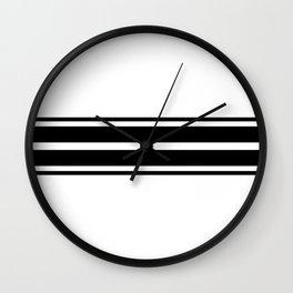 Black and white modern stripe pattern 11 Wall Clock