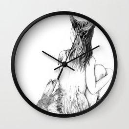 Sleeping Forest Wall Clock
