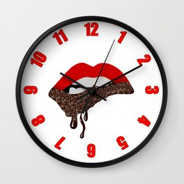Chocolate Lover Nutty Lips Wall Clock