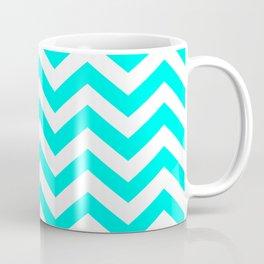 Turquoise Chevron Pattern Coffee Mug