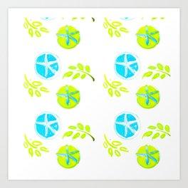 Aqua Stars Art Print