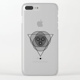 Mesh Triangle geometry white Clear iPhone Case