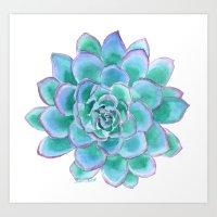 succulent Art Prints featuring Succulent by Susan Windsor