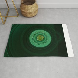 The world of gems - green stone Rug