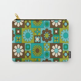 Flower power retro design Carry-All Pouch