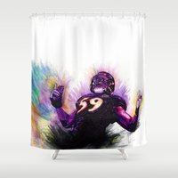 nfl Shower Curtains featuring 10 Point Underdogs - Ellerbeast by JsR_OtR