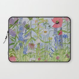 Flowers Alive Watercolor Laptop Sleeve