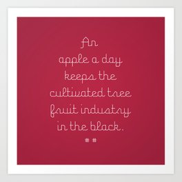 Proverbs: An Apple a Day Art Print