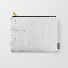'Unfurl', Dancer Line Drawing Carry-All Pouch