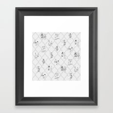 Royal Pattern Grey Framed Art Print
