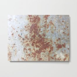 brown rusty surface with blue background Metal Print