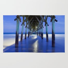 Topsail Pier on Clouds Rug