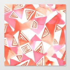 Geo Triangle Peach Canvas Print