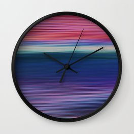 Ocean Sunset Abstract Wall Clock