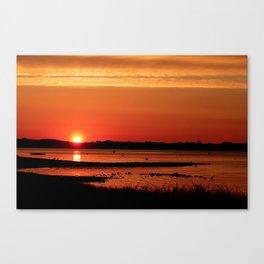 Block Island New Harbor Sunrise Canvas Print