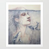 The tip of an iceberg Art Print