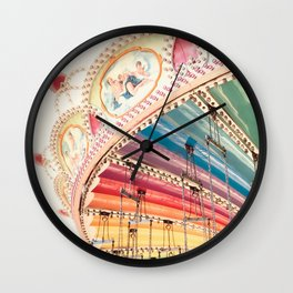 Flying Carousel 1 - Six Flags America Wall Clock