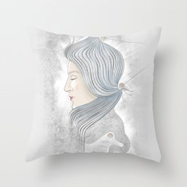 The waterfall of Subconsciousness Throw Pillow