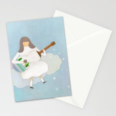 Winter play Stationery Cards
